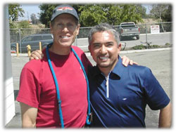 Rob Lerner with Cesar Millan of the Emmy Nominated 'Dog Whisperer'